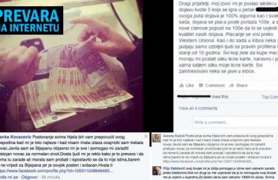 Internet prevara dojave facebook