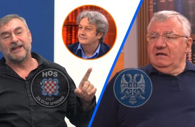 Ante Prkačin i Vojislav Šešelj - Ćirilica
